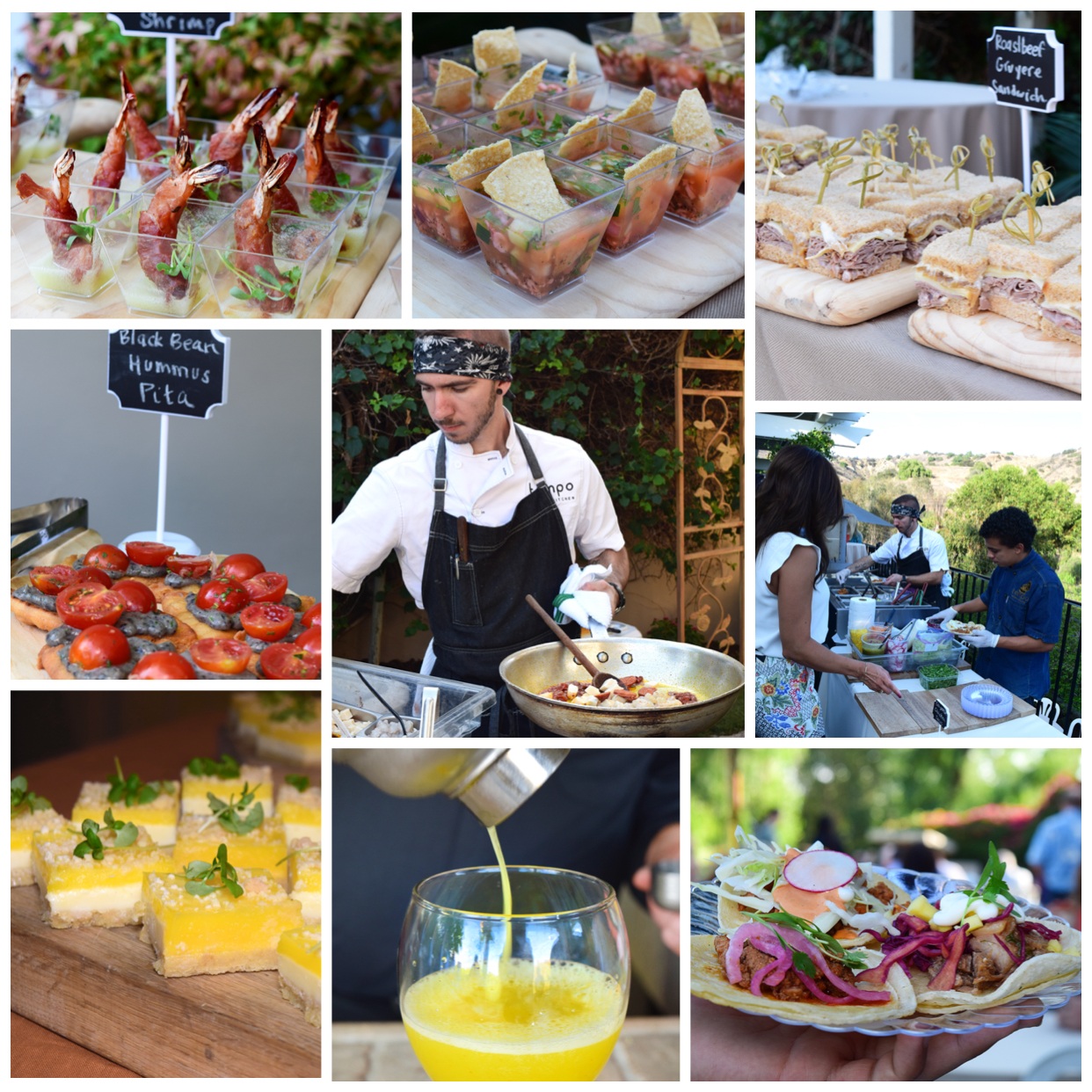 collage of catering event images